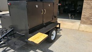Metal-Cutting-Board-Shelf-Holder-BBQ-Smoker-Grill-Trailer-Competition-Catering