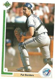Baseball Card Pat Borders 1991 Topps # 49 NM//MT
