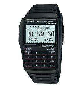 Casio-Men-039-s-Quartz-Illuminator-Calculator-Black-Resin-Band-41mm-Watch-DBC32-1A