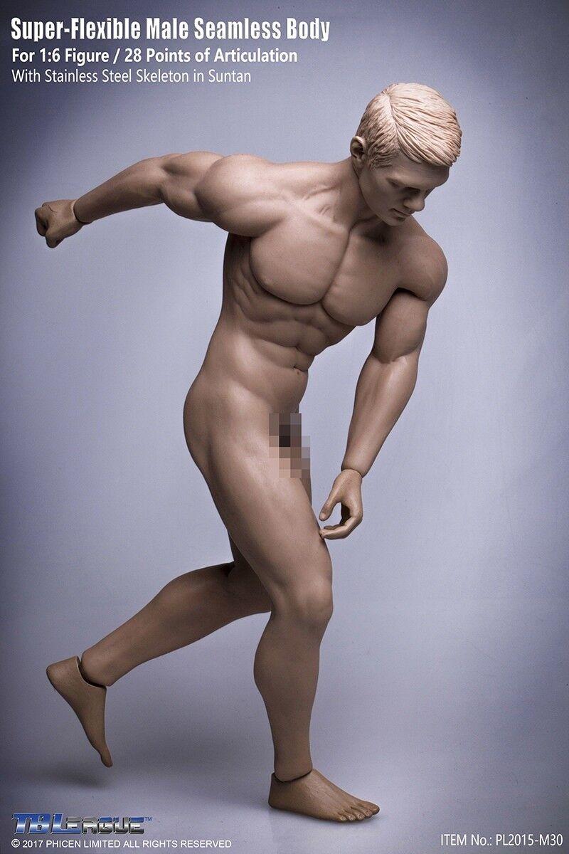 Tbleague pl2015-m30 1   6 - männliche muskulöse nahtlose bräune körper modell flexibler