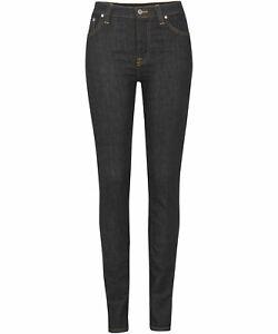 Nudie-Damen-Herren-Unisex-Slim-Skinny-Fit-Stretch-Jeans-Hose-High-Kai-Rinsed