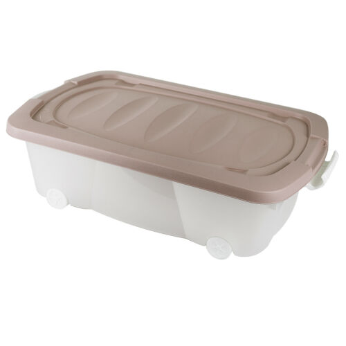 Plastic Storage Boxes Large Underbed Drawer Container Toys Clothes Shoes Wheeled