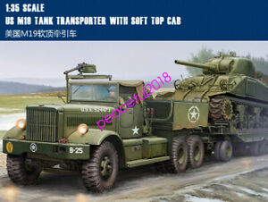 Trumpeter-model-kit-63502-US-M19-TANK-TRANSPORTER-WITH-SOFT-TOP-CAB-1-35-tank