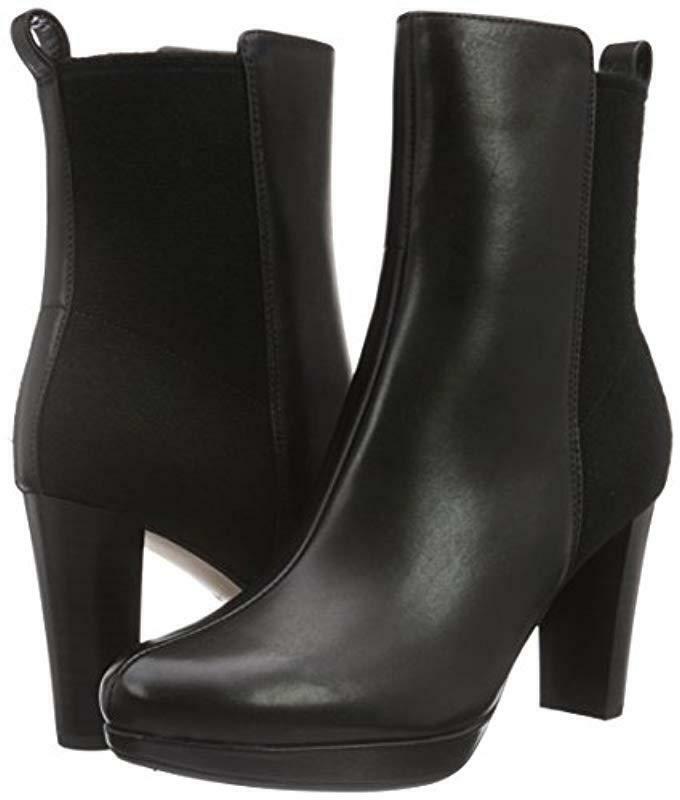Clarks Ladies Chelsea Ankle Boots Kendra Porter Porter Porter Black Leather UK 6 Wide Fit cb8b19