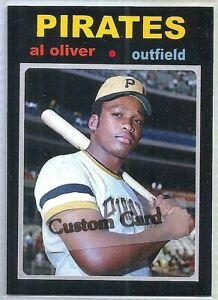 AL OLIVER PITTSBURGH PIRATES 1971 STYLE CUSTOM MADE BASEBALL CARD BLANK BACK