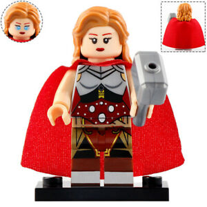 Lady-Thor-Jane-Foster-Marvel-Lego-Moc-Minifigure-Figure-Gift-For-Kids