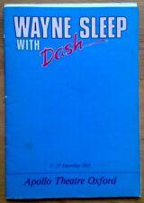 Wayne Sleep With Dash Programme Apollo Theatre Oxford 1983 Jane Darling