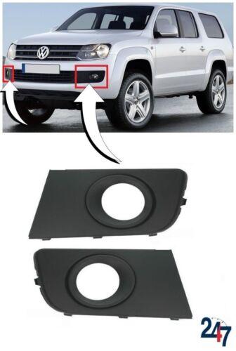 NUOVO VW Amarok 2010-2017 PARAURTI ANTERIORE INFERIORE FOG LIGHT Copertura Griglia Coppia Set