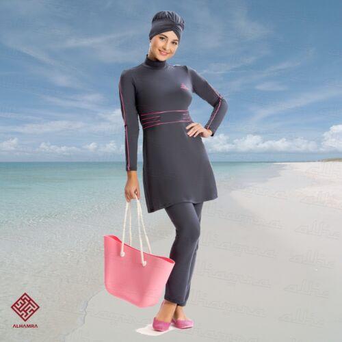 AlHamra AL8207 Modest Burkini Swimwear Swimsuit Muslim Islamic 3 piece UK 10-18