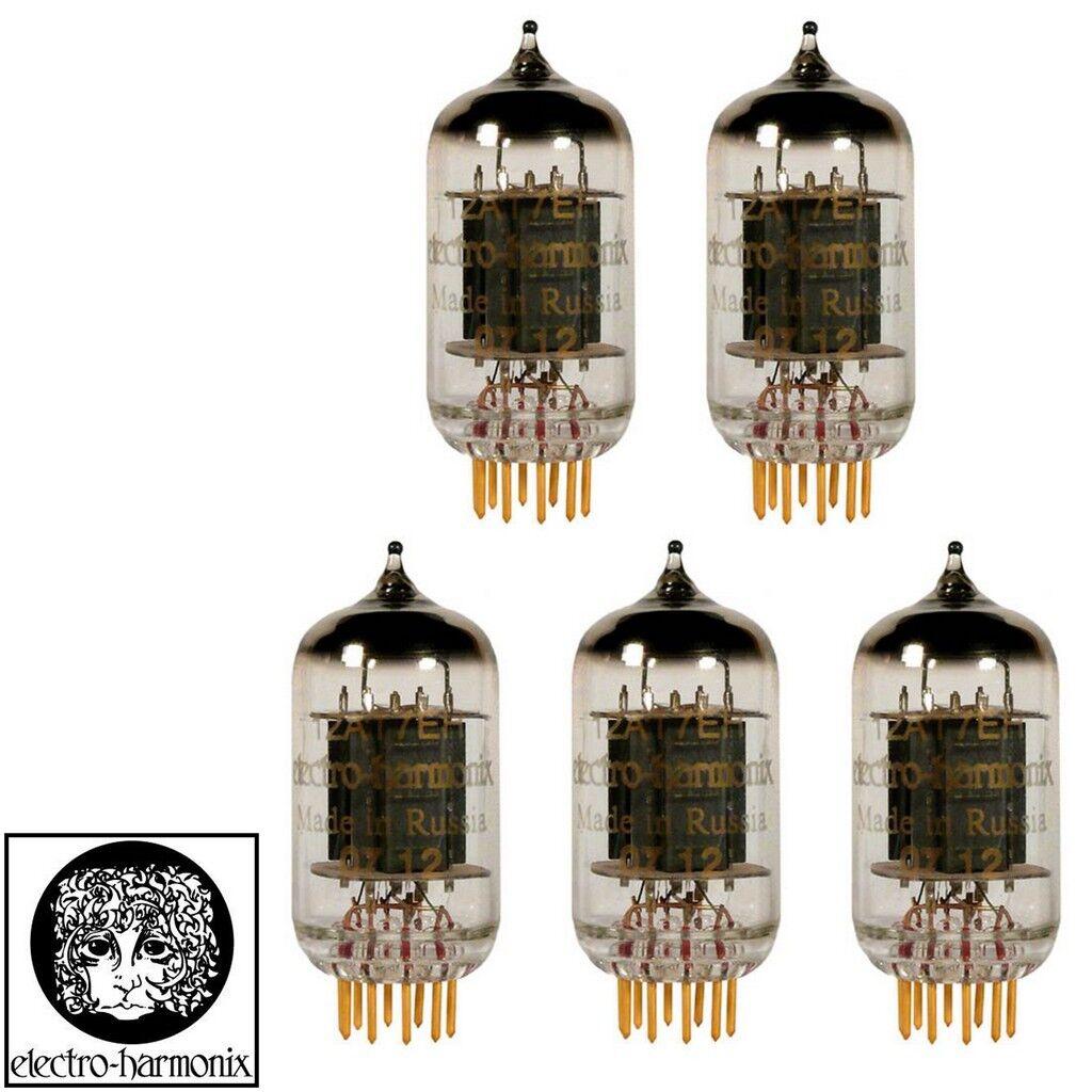 New Gain Matched Quintet 5x Electro-Harmonix 12AT7 ECC81 Gold Pin Vacuum Tubes