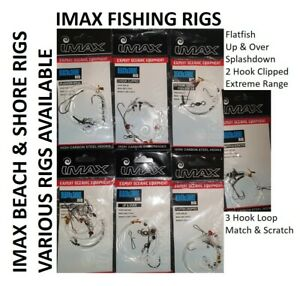 Sea fishing Rigs x 20 Shore Sea Rigs fish measure cod 6 x 5 oz grippers