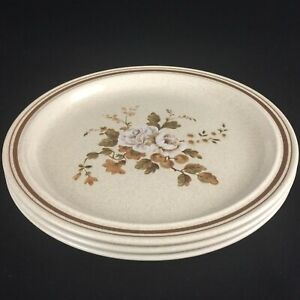 "Set of 3 VTG Dinner Plates 10 1/4"" by Royal Doulton Ravel Brown LS1037 England"