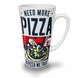 In Pizza We Trust NEW White Tea Coffee Latte Mug 12 17 oz   Wellcoda