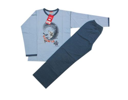Wörner Nachtwäsche Schlafanzug Pyjama Zweiteiler Jungen Blau Gr.152,164,176