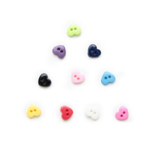 100pcs Mixed 2 hole Resin buttons Triangle Sewing Scrapbooking Decor 6mm