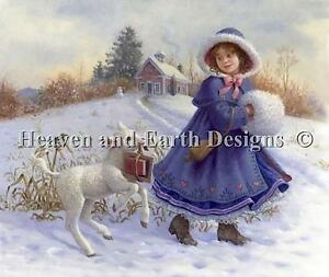 Mary-and-Her-Lamb-HAED-Michele-Sayetta-Ruth-Sanderson-Cross-Stitch-Chart-New