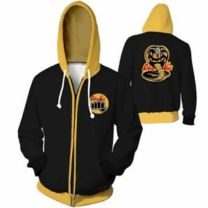 Mens-Cobra-Kai-Karate-Kid-3D-Print-Casual-Sweatshirt-Hoodie-Zipper-Jackets-Coat