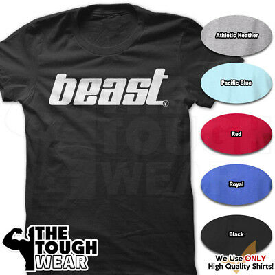 BEAST Gym Rabbit TShirt 6 colors Workout Bodybuilding Fitness Lifting Heavy D158