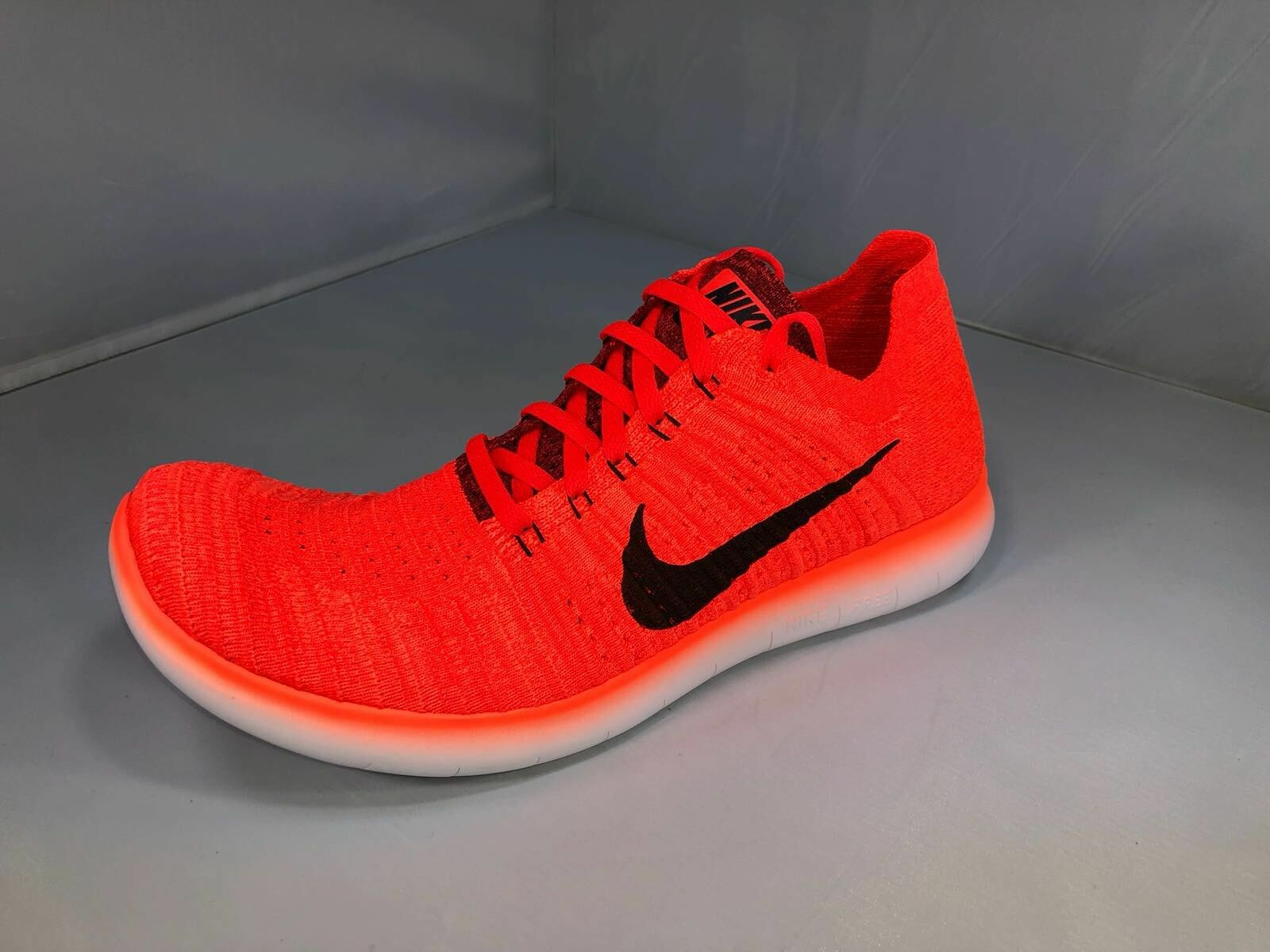 Men's NIKE Free RN Flyknit RUNNING Shoes bright crimson (831069 600) Size 10