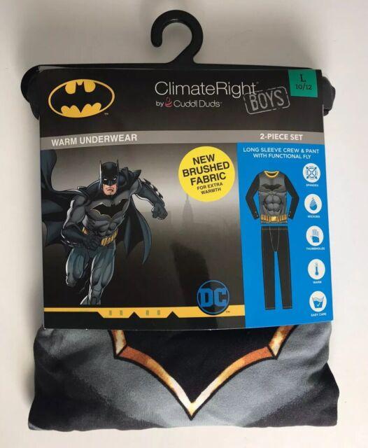 New Climate Right Cuddl Duds Boys Warm Underwear Set Batman