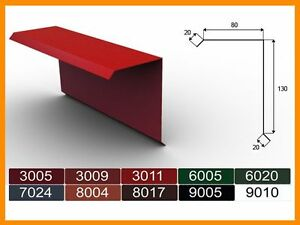 2m-Ortgangblech-I-Ortblech-Windblech-pulverbeschichtetes-0-5-Zuschnitt-250mm