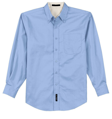 BUTTON DOWN COLLAR POCKET MEN/'S EASY CARE LONG SLEEVE SHIRT BACK PLEAT S-6XL