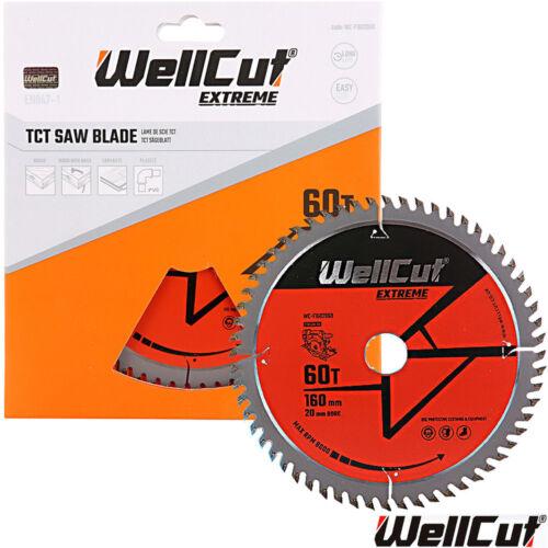 10 Wellcut Extreme TCT Lame Scie 160 mm x 60 T X 20 mm alésage pour Festool TS55 Pack