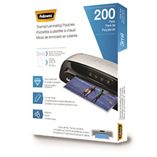 Fellowes Thermal Laminating Pouches Letter Size 9 X 115 Inches 3 Mil 200