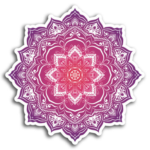 2 x 10cm Mandala Boho Indian Vinyl Stickers Sticker Laptop Luggage Gift #19360