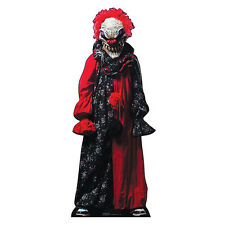 CREEPY CLOWN Lifesize CARDBOARD CUTOUT Standup Standee Scary Halloween Prop F/S