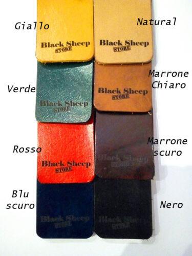 Portafoglio cuoio compatto 2 colori made in Italy porta tessere artigianato