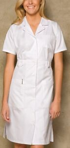 NWT-Dickies-Medical-Uniform-Button-Front-WHITE-Nurse-039-s-Uniform-Dress-38-034-XS-3XL