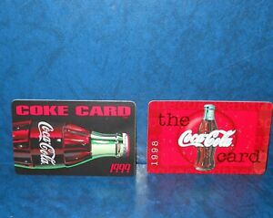 The-Coca-Cola-Card-1998-amp-The-Coke-Card-1999-Collectible-Cards-Never-Used
