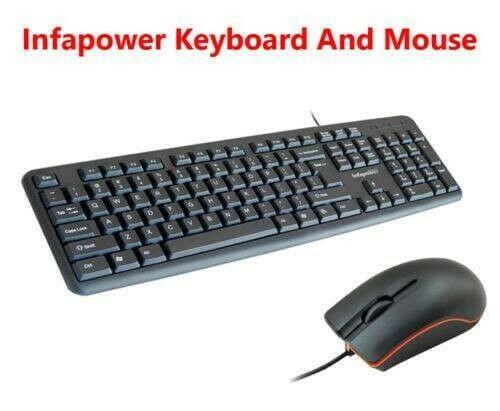 Infapower Wired Waterproof Keyboard With Mouse Set Combo for PC/Mac Laptop  | Wexford | Gumtree Classifieds Ireland | 426193383