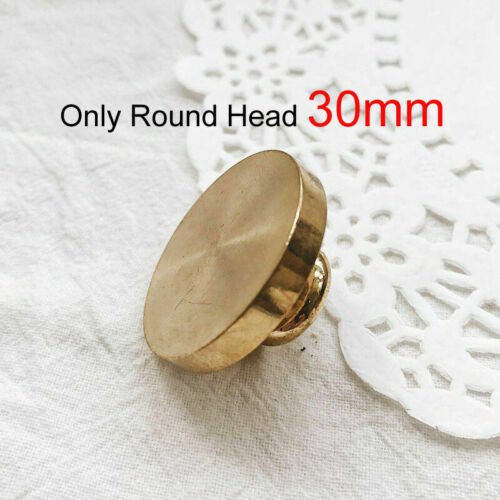 Round//Square Seal Wax Stamp Copper Head Universal Wooden Handle DIY Sealing Tool