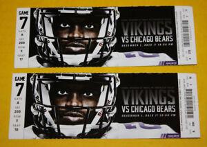 Minnesota Vikings Ticket Stub December 1 2013 | Alshon Jeffery 2 TD