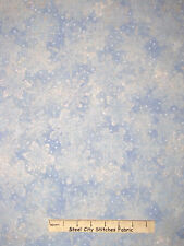 Christmas Snowflake Blue Silver Cotton Fabric RJR 1557 Holiday Accents - Yard