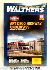 HO Scale Walthers Cornerstone 933-3190 Art Deco Highway Underpass Building Kit