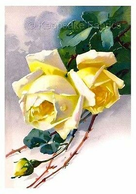 Yellow Roses Klein Quilt Fabric Block Multi Sizes FrEE ShiPPinG WoRld WiDE