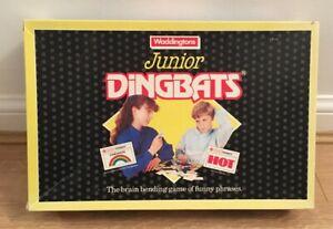 Vintage-1988-Waddingtons-Junior-Dingbats-Juego-de-Mesa-2-4-jugadores-edad-9-Para-Adulto
