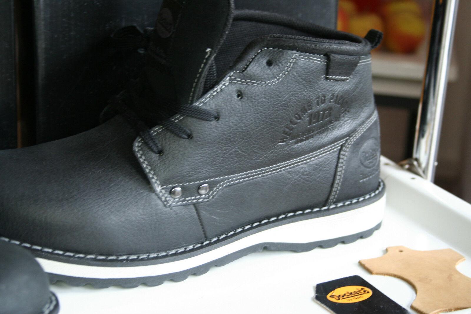 DOCKERS  BAVARIANBOOT  Neu echtes Leder USEDSTYLE gefettet black asfalt  USEDSTYLE Leder Gr42 a10f63