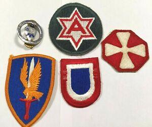 USA Lot de 4 patchs & 1 insignes