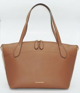 6afeabd422c3 Details about Burberry Women s Medium Welburn Check and Leather Tote  Bag