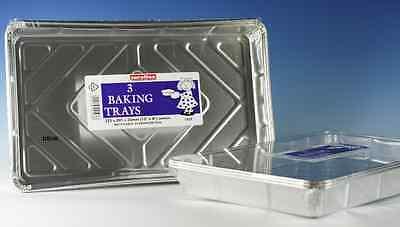 Ben Informato 15 Usa E Getta Carta Stagnola Alluminio Vassoio Rettangolare Partito Vassoio Piatto Singoli...-