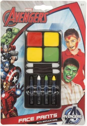 Marvel avengers face paint for kids great fun for partiesiron man & hulk heroes afficher le titre d'origine