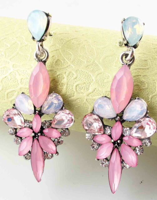 New Fashion Women Elegant Crystal Rhinestone Ear Stud silver dangle Earrings 455