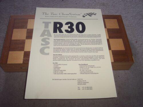 Schachcomputer Prospekt TASC R 30 1 Seite