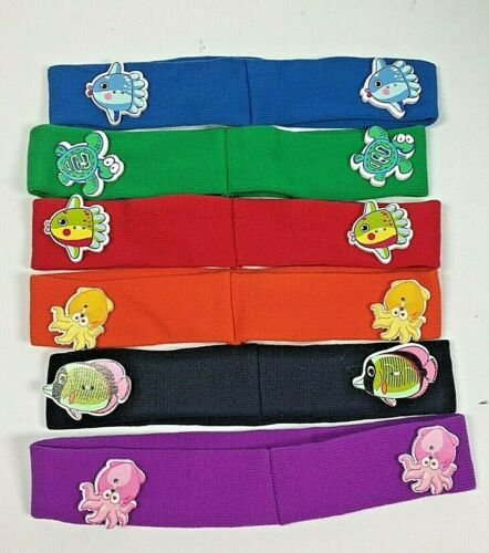 Details about  /Lot of 6 Headbands with a Variety of Cute Ocean Animal Buttons for Mask Straps