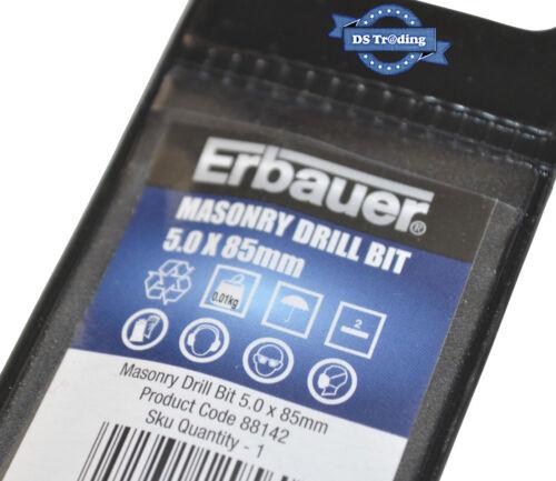 ERBAUER MASONRY DRILL BIT 5mm x 85mm *NEW /& SEALED*