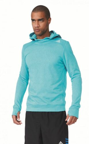 Adidas Mens Running Fitness Hooded Sweat Response Icon Hoody M Green
